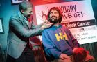 The shave-off took place at the Tir Na Nog Thursday night.