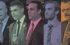 From left to right: Conservative Andy Brooke, Green Nathan Townend, Liberal Mark Gerretsen, Libertarian Luke McAllister and NDP Daniel Beals.