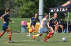 Laura Callender (10) in the Gaels' game against Laurentian last weekend.