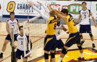The men's volleyball team in a game earlier this season against U of T. The Gaels recently lost to the McMaster Marauders, ending their season.