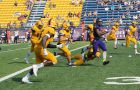 Laurier's 588 total yards of offense were the most the Gaels have conceded this season.