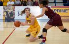 Andrea Priamo (above) had 11 points and five rebounds for Queen's in the loss.