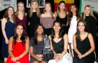 Women's squash with the Award of Merit for Top Team.