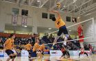 The men's volleyball team is currently first in the OUA East.